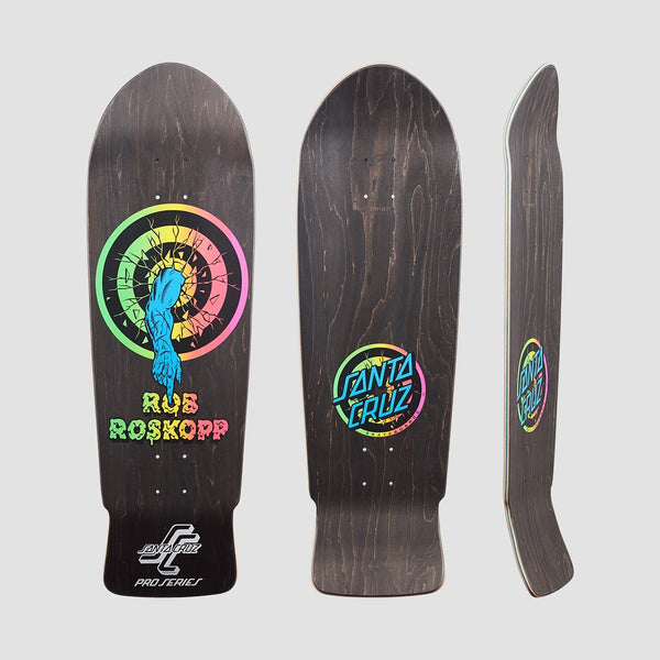 Santa Cruz Rob Roskopp Target-1 Deck Matte Finish/Black Stain - 10 - Skateboard