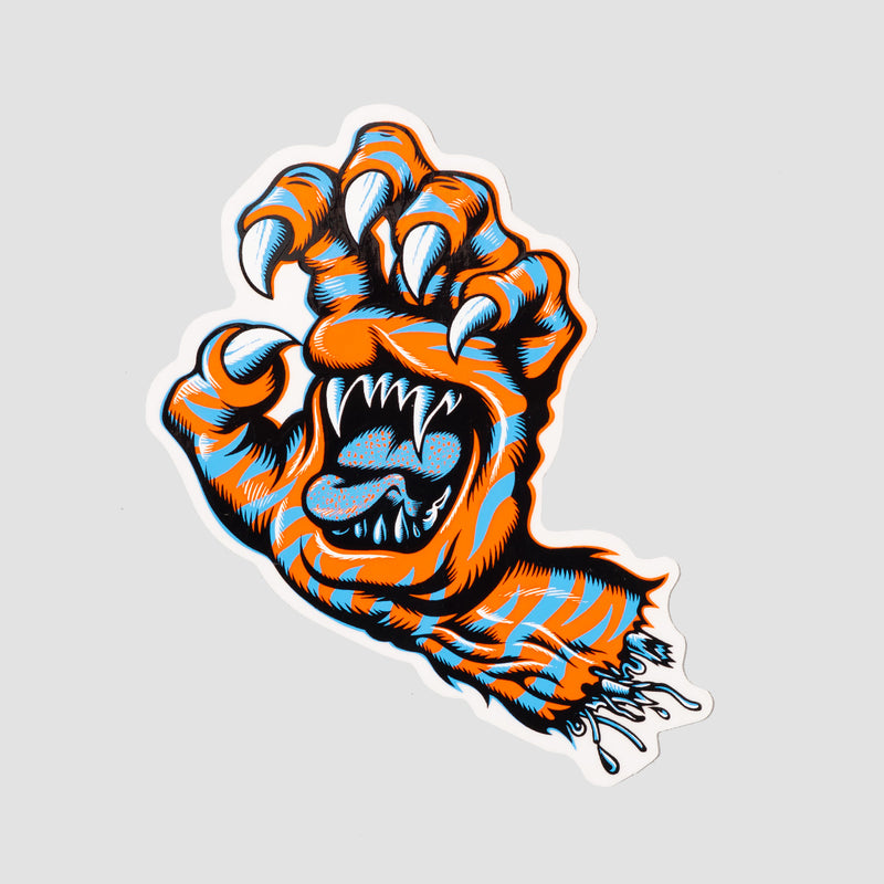 Santa Cruz Salba Tiger Hand Sticker Multi 115x75mm