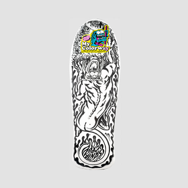Santa Cruz Salba Tiger My Colorway Reissue Deck White - 10.3""