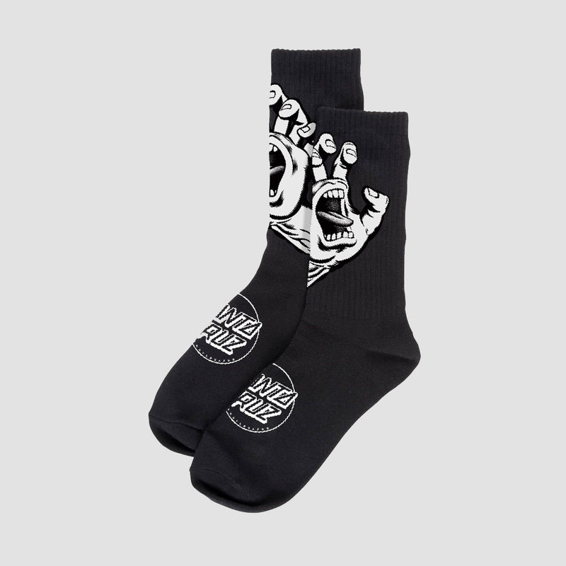 Santa Cruz Screaming Hand Mono Socks Black