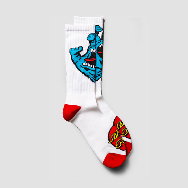 Santa Cruz Screaming Hand Socks White