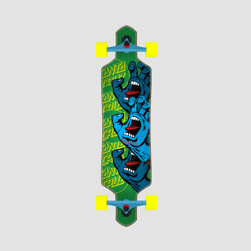 Santa Cruz Screaming Hand Stack Drop Thru Longboard Multi - 36""