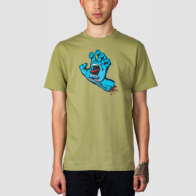 Santa Cruz Screaming Hand Tee Sage