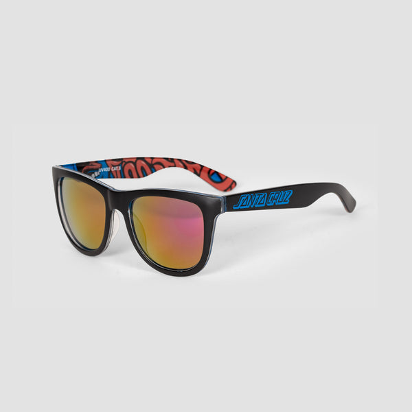 Santa Cruz Screaming Insider Sunglasses Black/Blue