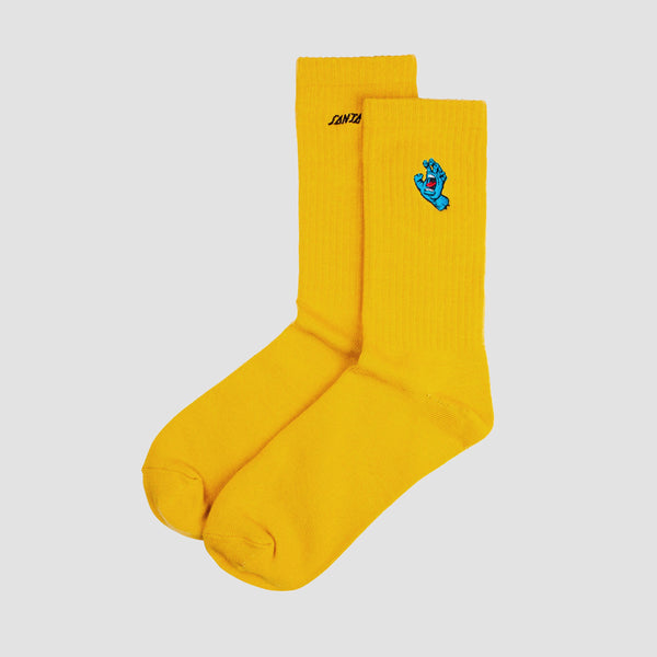 Santa Cruz Screaming Mini Hand Socks Mustard