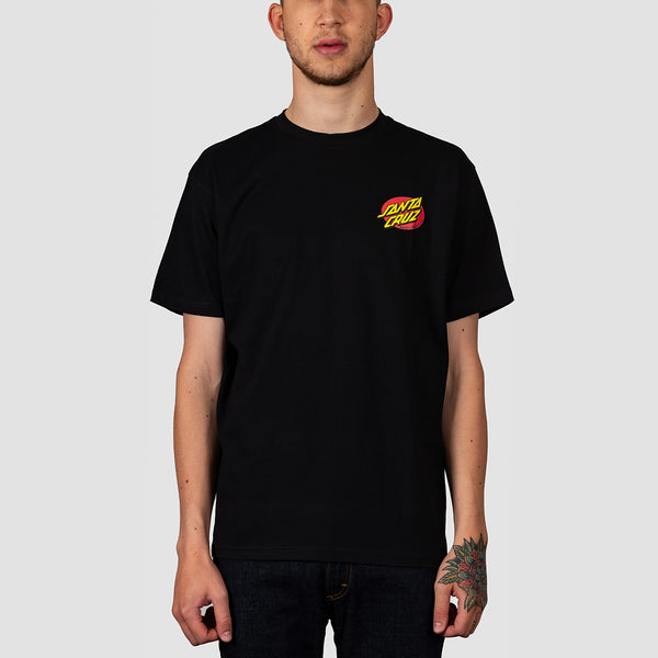 Santa Cruz Slashed Tee Black
