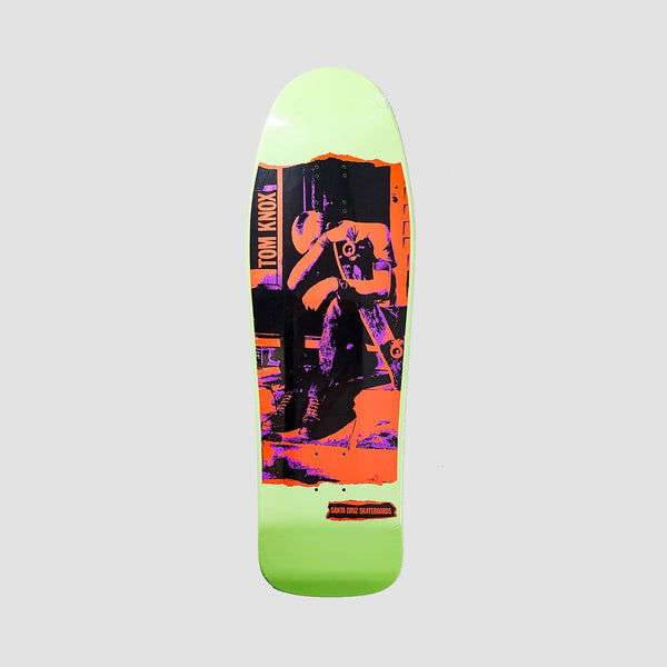 Santa Cruz Tom Knox Discord Deck Neon Ink/Mint Dip - 9.98 - Skateboard