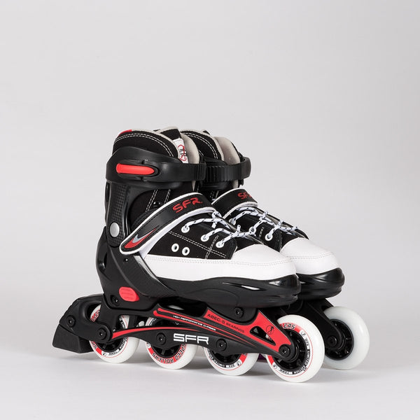 SFR Camden Adjustable Recreational Skates Black/Red - Kids - Skates