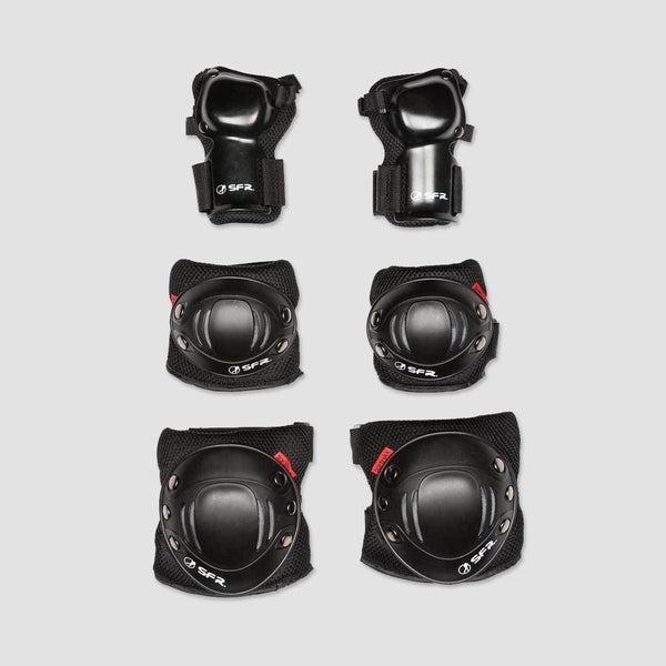 SFR Essential Triple Pad Set Black - Safety Gear