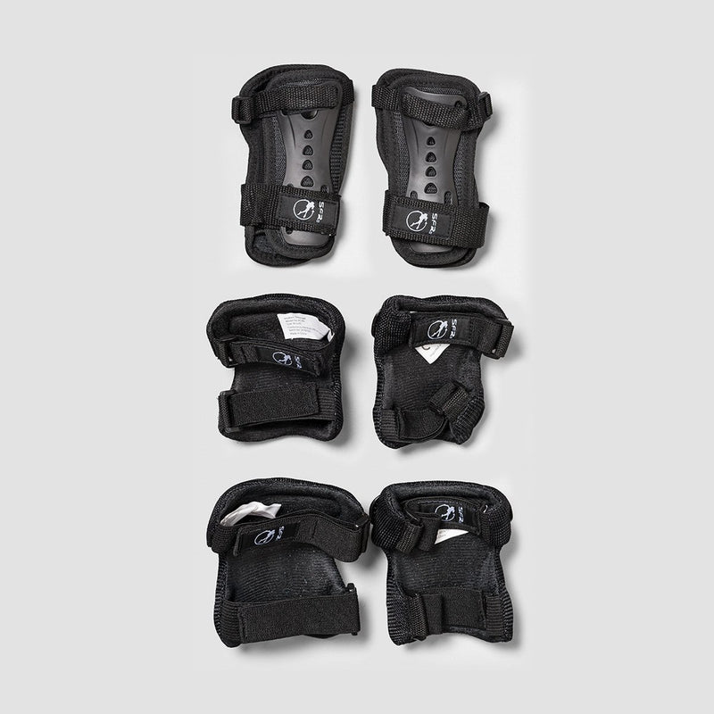 SFR Essential Triple Pad Set Black/Red - Kids - Safety Gear