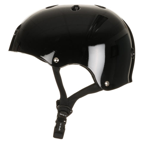 SFR Essentials Helmet With Stickers Black - Safety Gear
