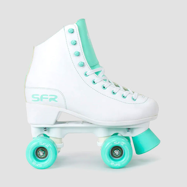 SFR Figure Quad Skates White/Green - Unisex S