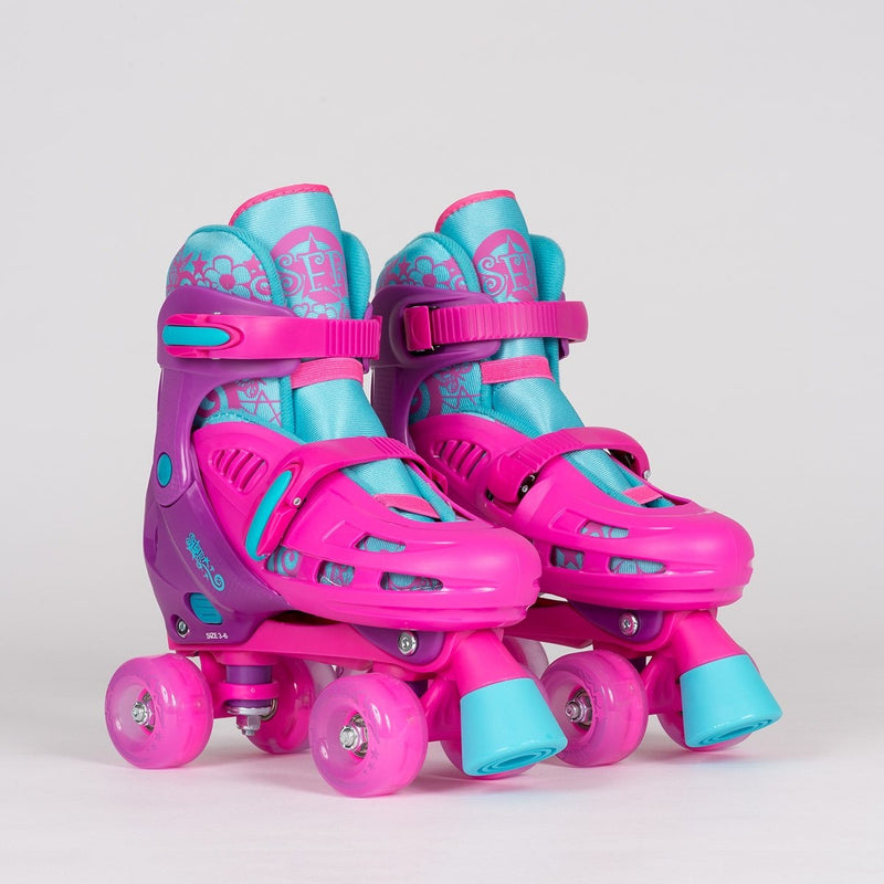 SFR Hurricane Lightning Adjustable Quads Pink - Kids - Skates