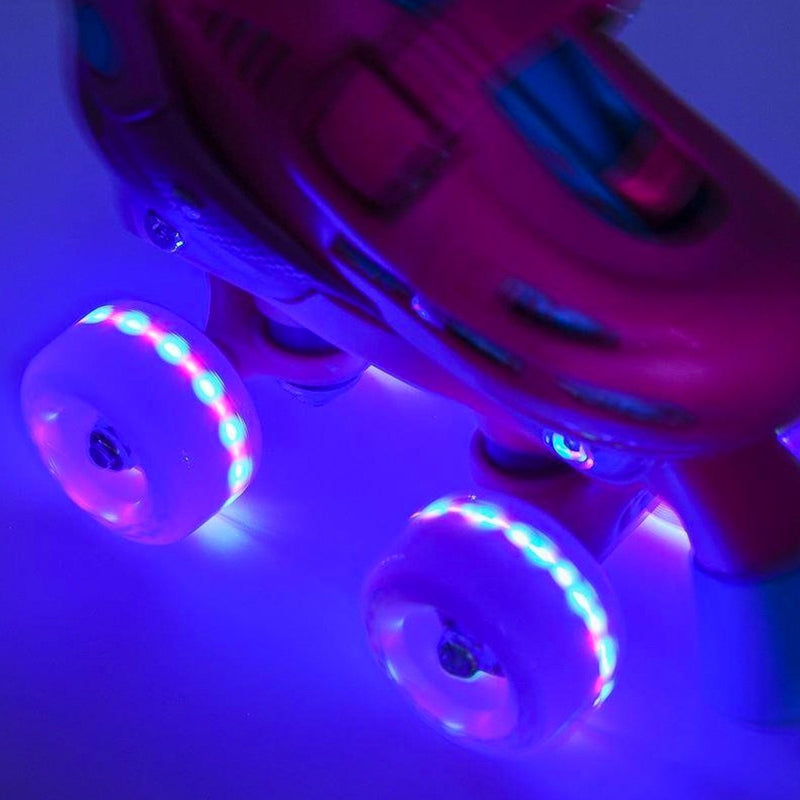 SFR Light Up Quad Wheels x4 Grey 58mm - Skates