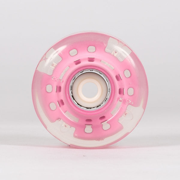 SFR Light Up Quad Wheels x4 Pink 58mm - Skates