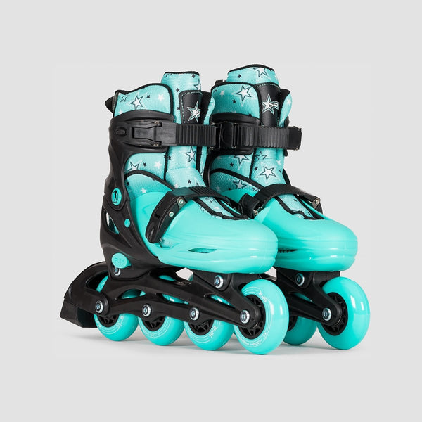 SFR Plasma Adjustable Recreational Skates Black/Green - Kids - Skates