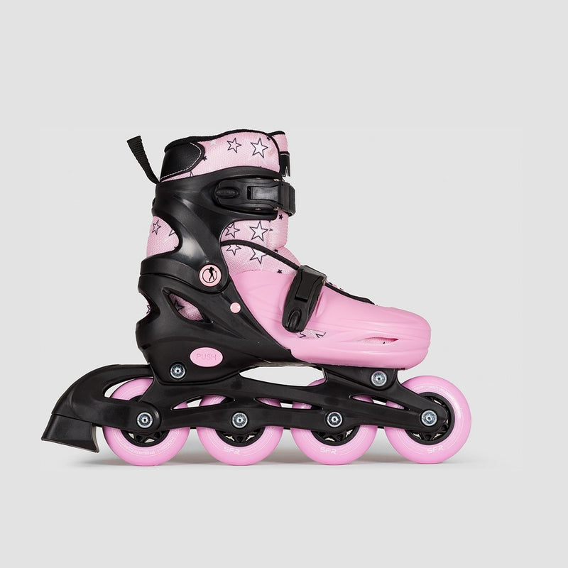 SFR Plasma Adjustable Recreational Skates Black/Pink - Kids - Skates