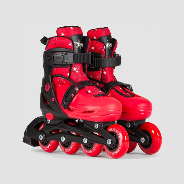 SFR Plasma Adjustable Recreational Skates Black/Red - Kids - Skates