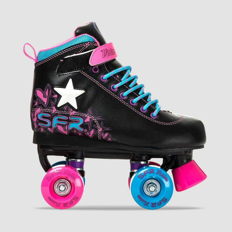 SFR Vision Light Up Quads Black - Kids - Skates