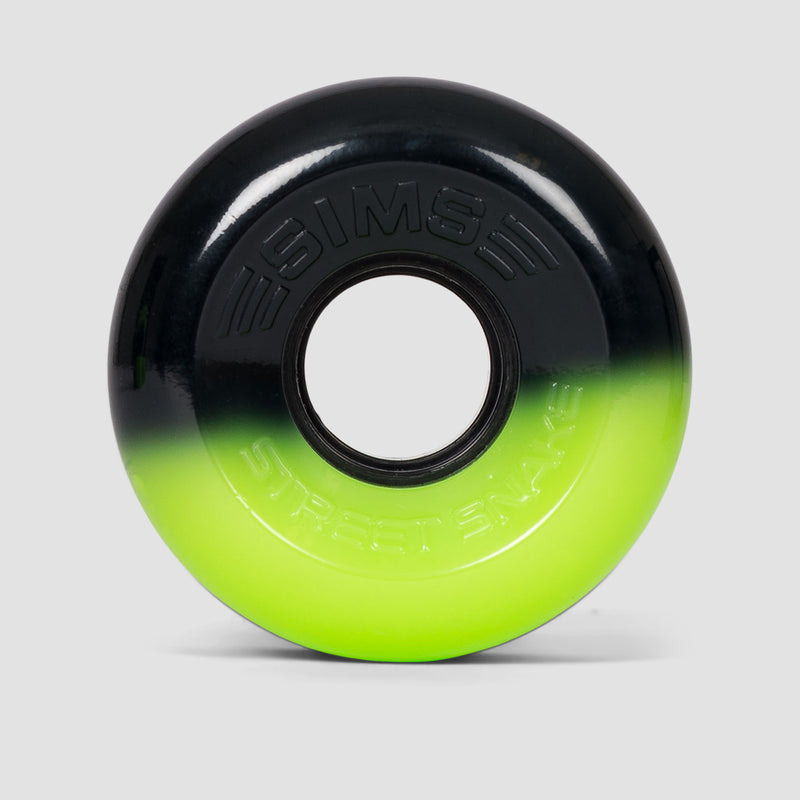 Sims Street Snakes 2tone 78a Quad Wheels x4 Green/Black 62mm