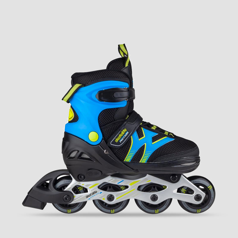 Skatelife Motion Adjustable Inline Skates Black/Blue - Kids