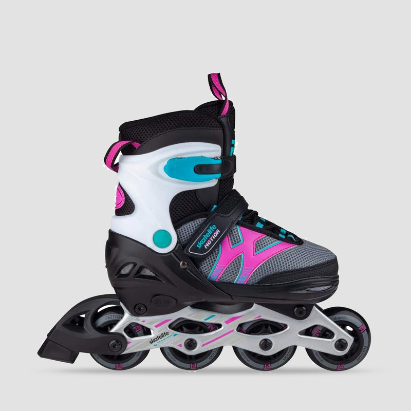 Skatelife Motion Adjustable Inline Skates Black/Pink - Kids