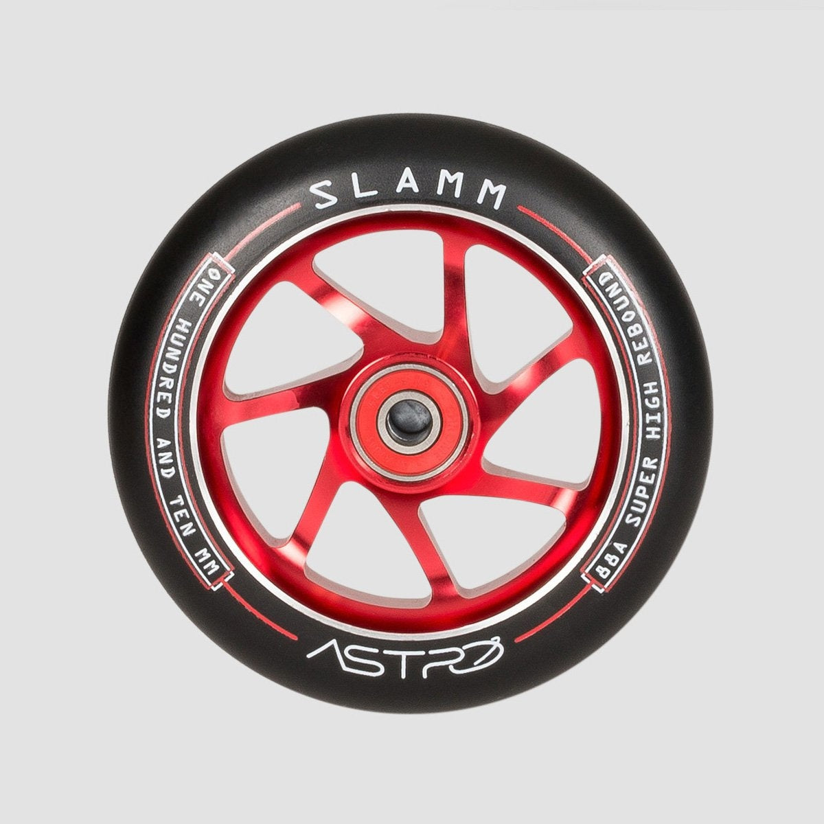 Slamm Astro Scooter Wheel x1 Red 110mm - Scooter