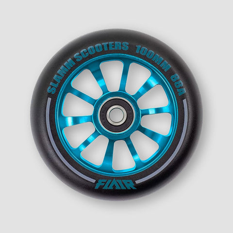 Slamm Flair 2.0 Scooter Wheel x1 Blue 100mm