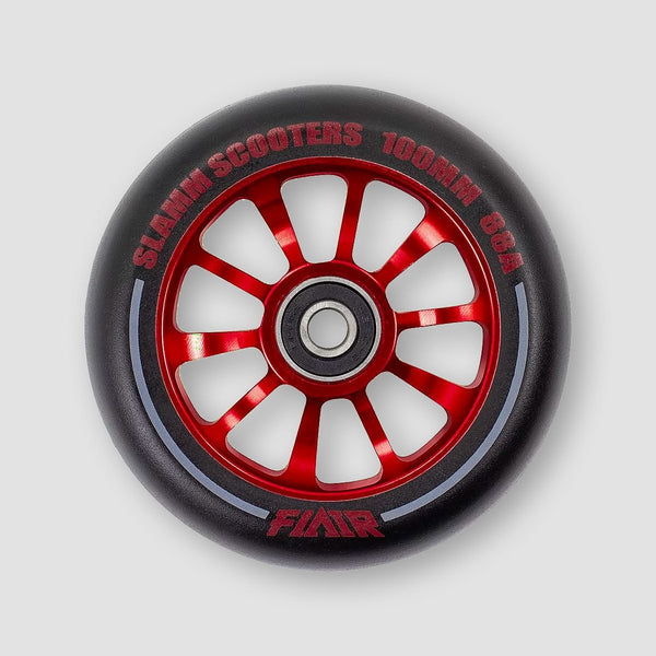 Slamm Flair 2.0 Scooter Wheel x1 Red 100mm - Scooter