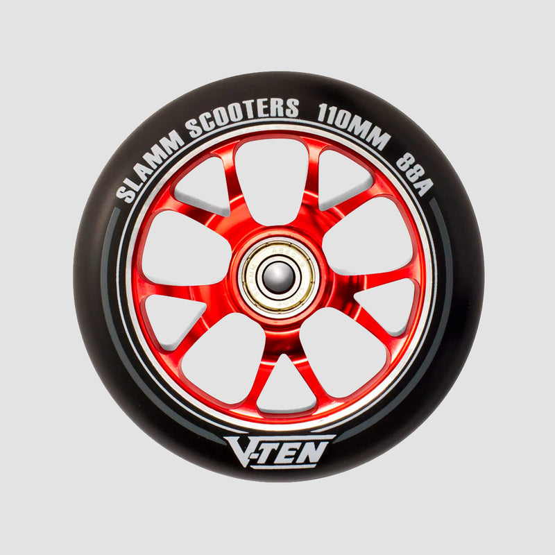 Slamm V-Ten II 88A Scooter Wheel x1 Red 110mm
