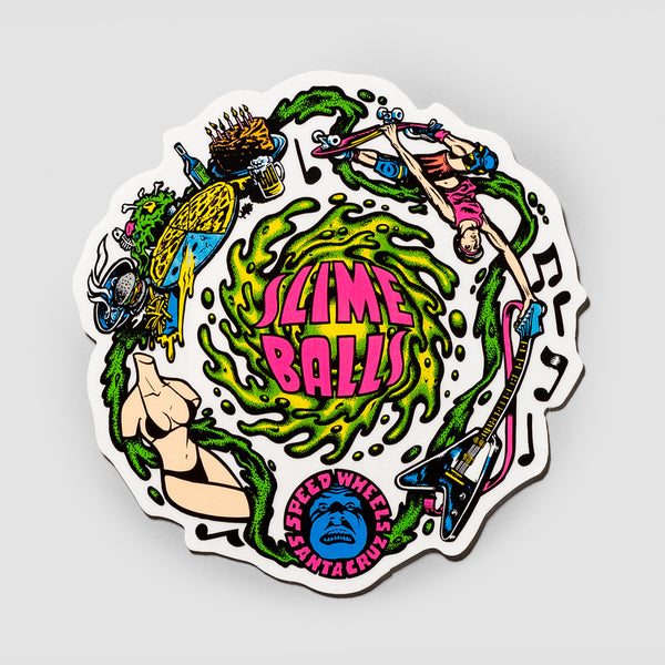Slime Balls Vomit Sticker Clear 110mm