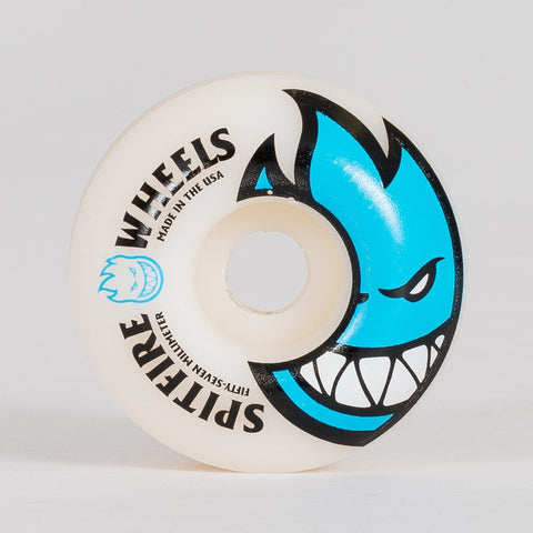 Spitfire Bighead Wheels White/Sky Blue 57mm - Skateboard