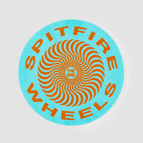 Spitfire Classic Sticker Blue 65mm