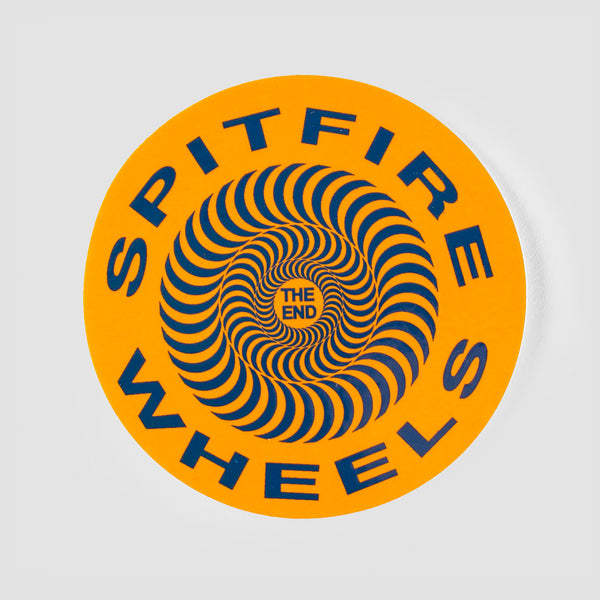 Spitfire Classic Sticker Orange 65mm