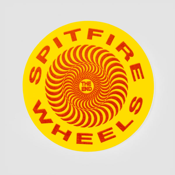 Spitfire Classic Sticker Yellow 65mm