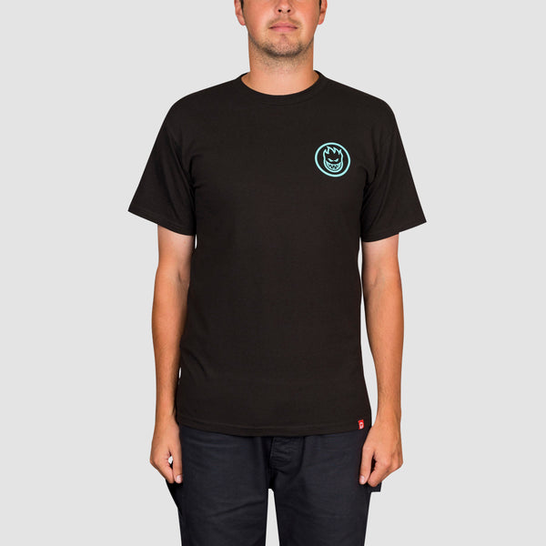 Spitfire Classic Swirl Tee Black/Teal