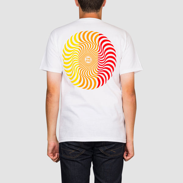 Spitfire Classic Swirl Tee White/Yellow/Orange/Red
