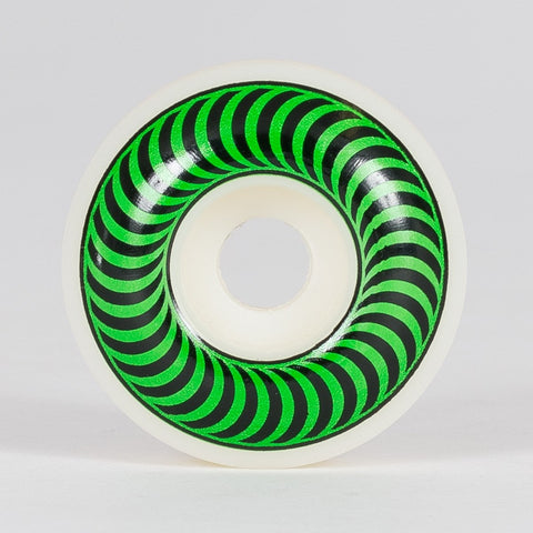Spitfire Classic Wheels White/Green 52mm - Skateboard