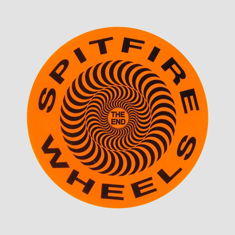 Spitfire Covert Classic Sticker Orange 115mm - Skateboard