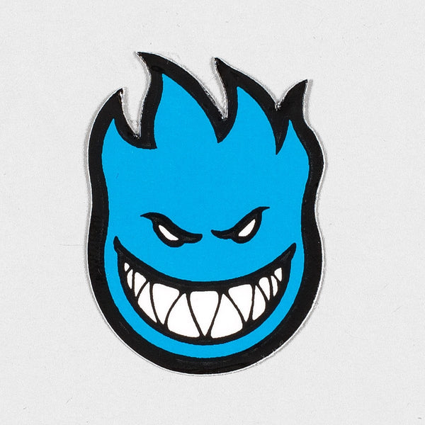 Spitfire Fireball Mini Sticker X-Small Blue 40mm x 25mm - Skateboard