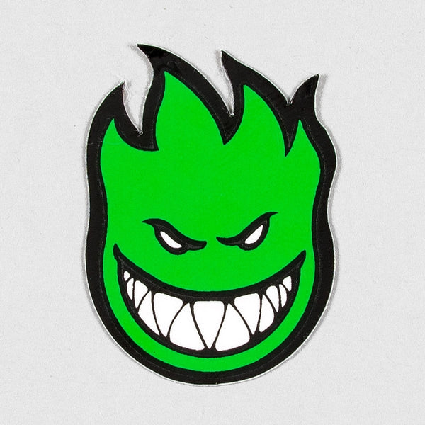 Spitfire Fireball Mini Sticker X-Small Green 40mm x 25mm - Skateboard