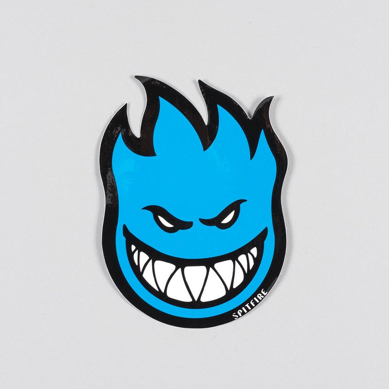 Spitfire Fireball Sticker Medium Blue 150mm x 100mm - Skateboard