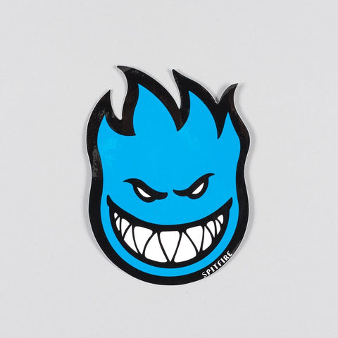 Spitfire Fireball Sticker Medium Blue 150x100mm