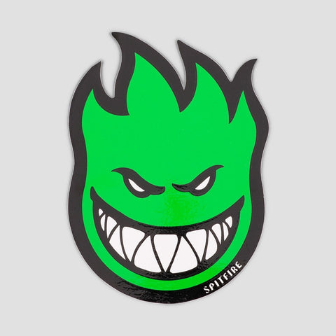 Spitfire Fireball Sticker Medium Green 150x100mm