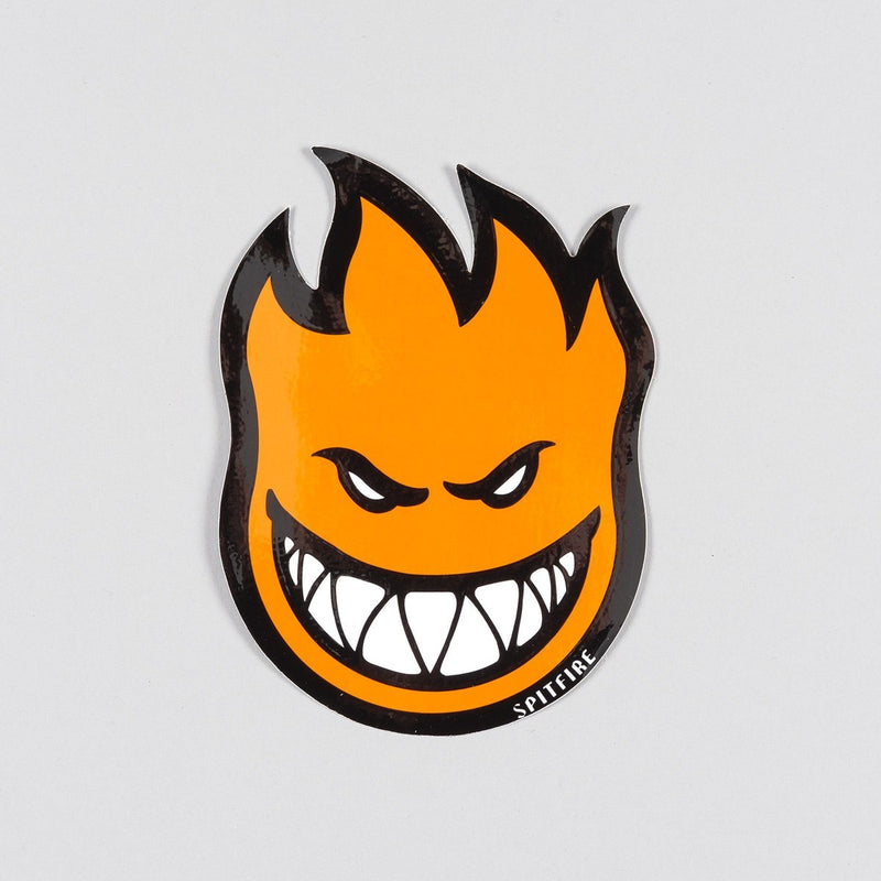 Spitfire Fireball Sticker Medium Orange 150mm x 100mm - Skateboard