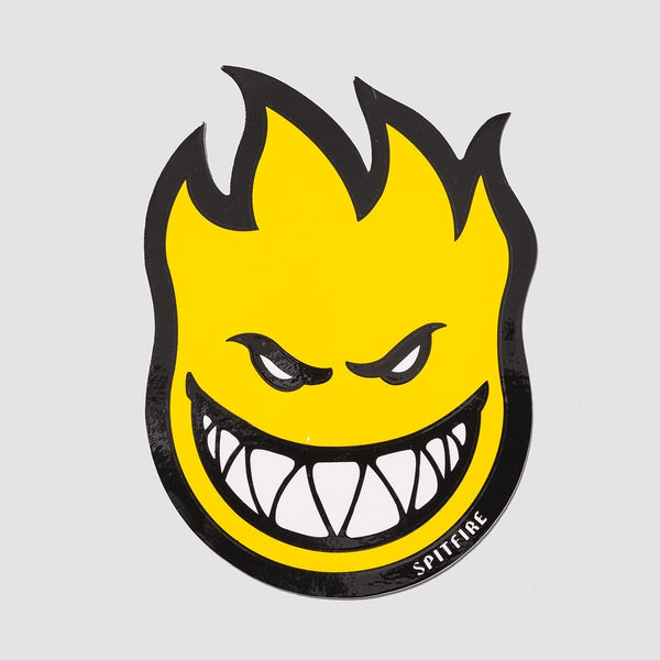 Spitfire Fireball Sticker Medium Yellow 150mm x 100mm - Skateboard