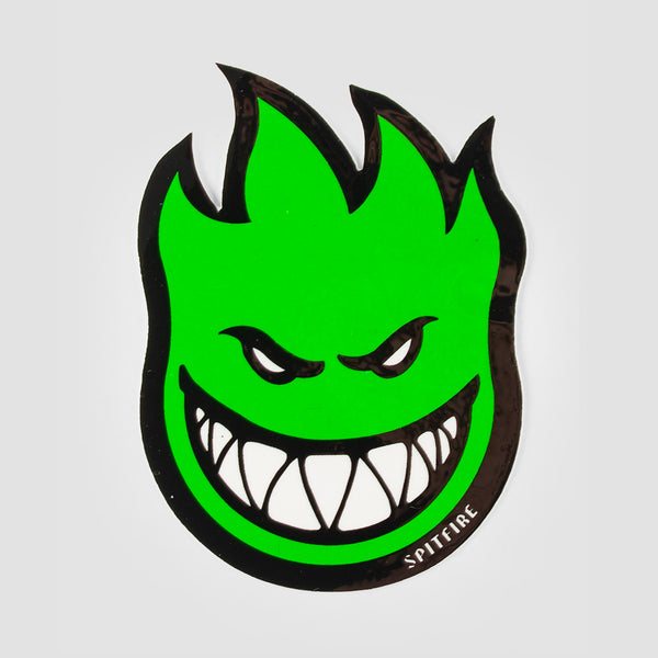 Spitfire Fireball Sticker Small Green 75x55mm