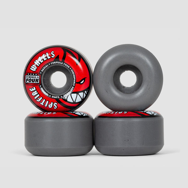 Spitfire Formula Four 101Du Radial Wheels Grey/Red 52mm