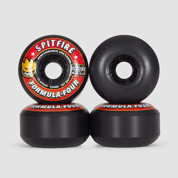 Spitfire Formula Four Classic 101DU Wheels Black 52mm - Skateboard