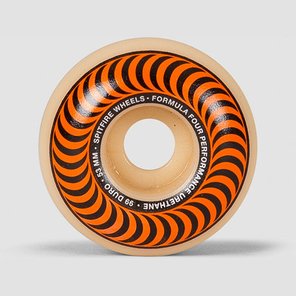Spitfire Formula Four Classic 99DU Wheels Natural/Orange 53mm - Skateboard